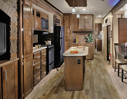 Cherokee Destination Trailer Interior