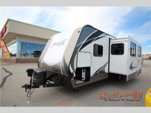 The Grand Design Imagine travel trailer.
