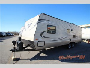 Check out the Keystone Hideout travel trailer.