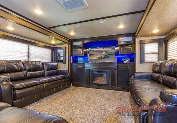 Grand Design Momentum Toy Hauler Living Room