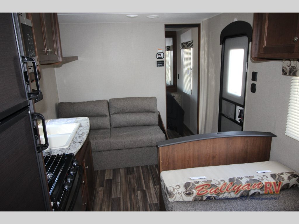 Keystone Hideout 262LHS Travel Trailer Interior Sofa