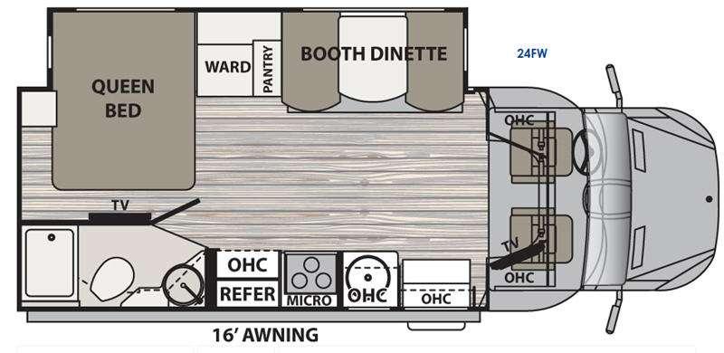 Dynamax Isata 3 Diesel Class C Motorhome 24FW Floorplan