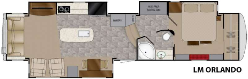 Heartland Landmark 365 Orlando Fifth Wheel Floorplan