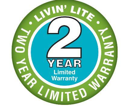 2 Year Warranty Livin-Lite
