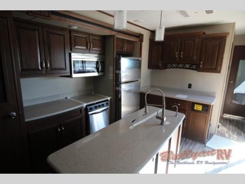 Keystone Retreat 391RLTS Destination Trailer Kitchen