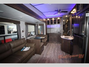 Arctic Wolf Fifth Wheel 255DRL4 Living Room and Kitchen