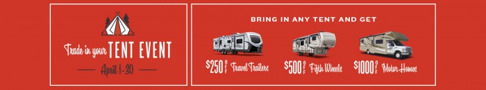 Trade in your Tent Event