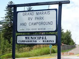 Welcome Sign Grand Marais