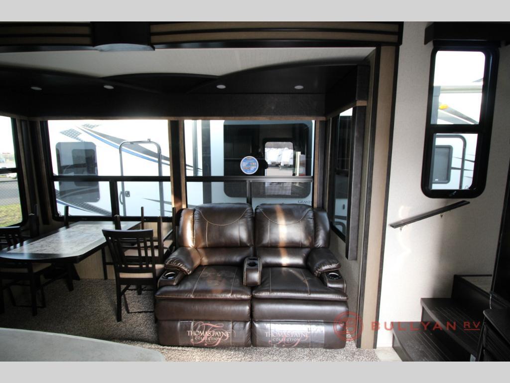 Grand Design Momentum 399TH Toy Hauler Seating