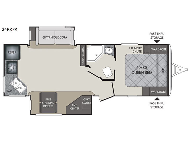 Keystone Premier 24RKPR Travel Trailer Floorplan