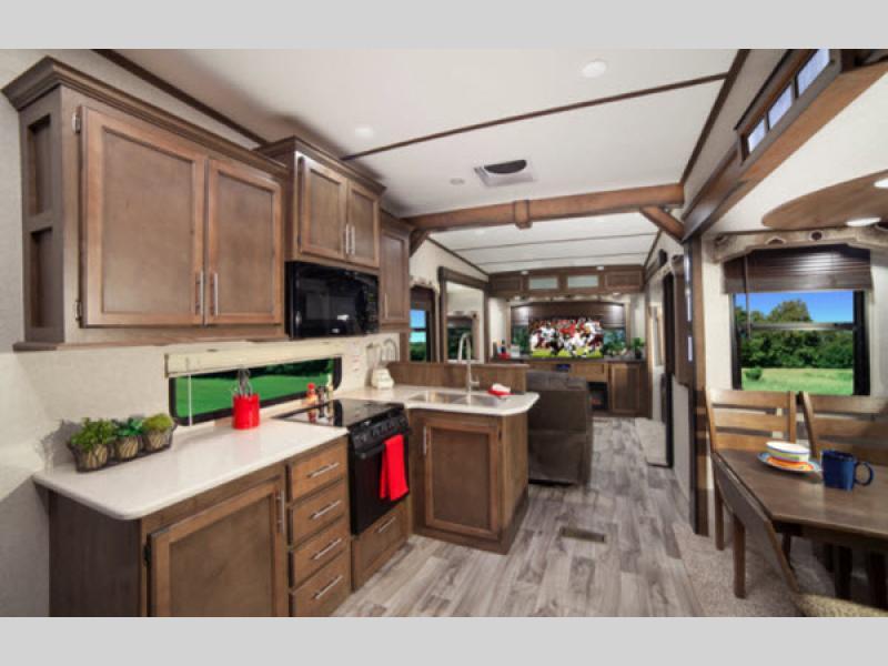 kitchen in cougar 5th wheel