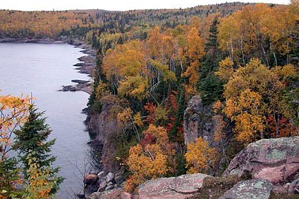 split rock landscape