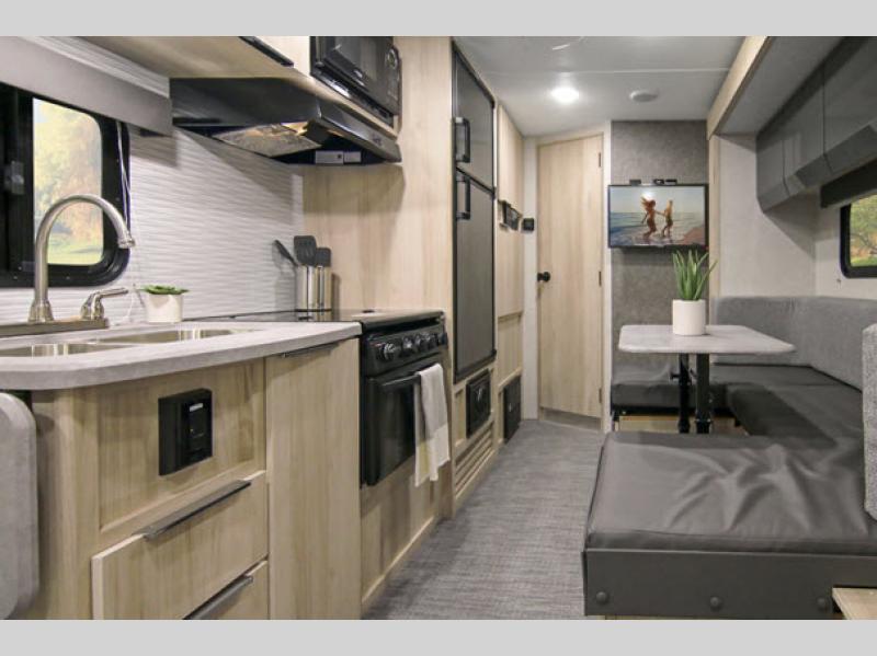 hiker travel trailer living area
